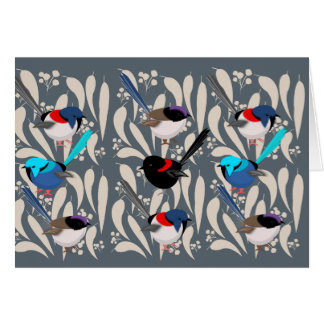 Fairy Wrens Card