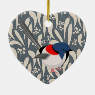 Fairy Wrens Ceramic Ornament
