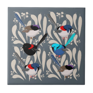 Fairy Wrens Ceramic Tiles
