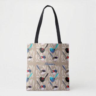 Fairy Wrens Design Tote Bag