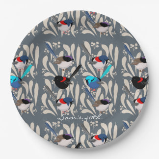 Fairy Wrens Paper Plate
