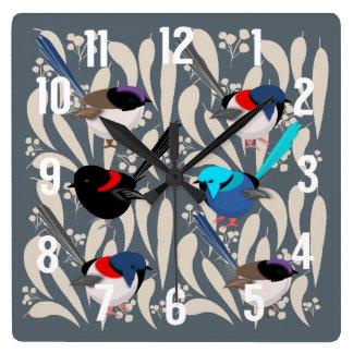 Fairy Wrens Wall Clocks