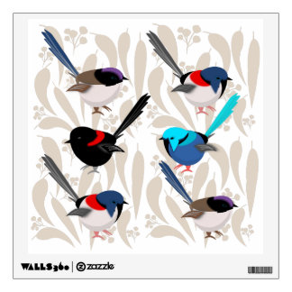 Fairy Wrens Wall Decal