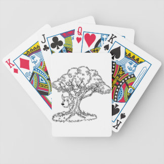 Fairytale Big Bad Wolf and Tree Cartoon Bicycle Playing Cards