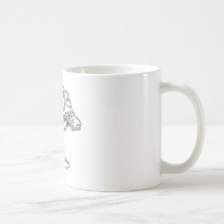 Fairytale Big Bad Wolf and Tree Cartoon Coffee Mug