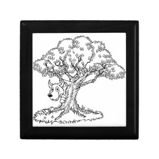 Fairytale Big Bad Wolf and Tree Cartoon Gift Box