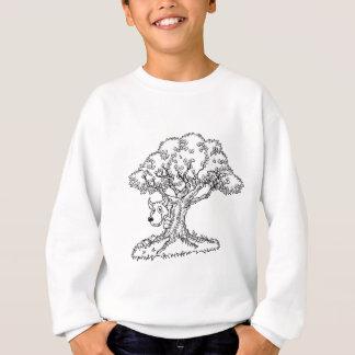 Fairytale Big Bad Wolf and Tree Cartoon Sweatshirt