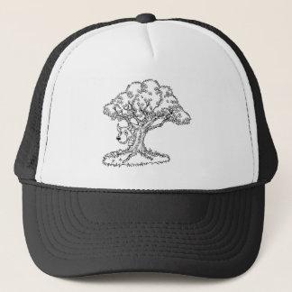 Fairytale Big Bad Wolf and Tree Cartoon Trucker Hat