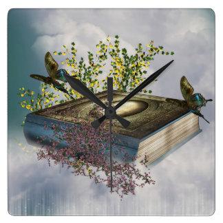 Fairytale Book Butterflies Wall Clock