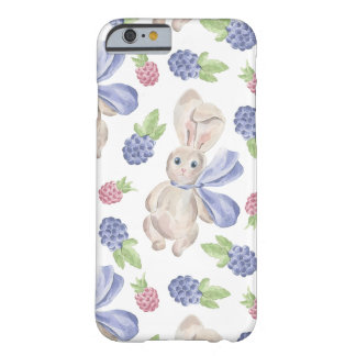 Fairytale Bunny Rabbit with Florals Pattern Barely There iPhone 6 Case