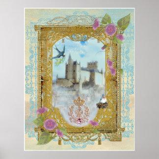 Fairytale Castle In The Mists, Paulette Kinney ... Poster