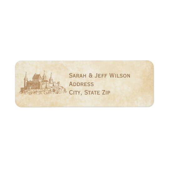 Fairytale Castle Return Address Labels