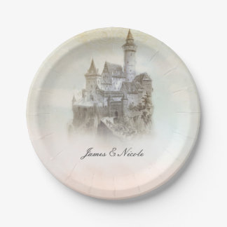 Fairytale Castle Storybook Wedding Party Plates 7 Inch Paper Plate