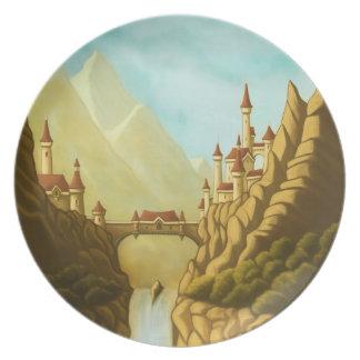 fairytale castles fantasy landscape art plates