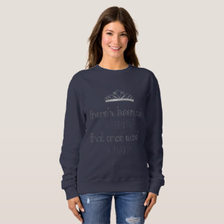 Fairytale crown print sweatshirt