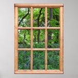 Fairytale Garden View from a Window (Premium) Print