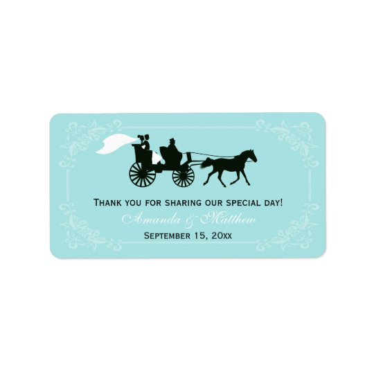 Fairytale Horse and Carriage Wedding Favour Labels