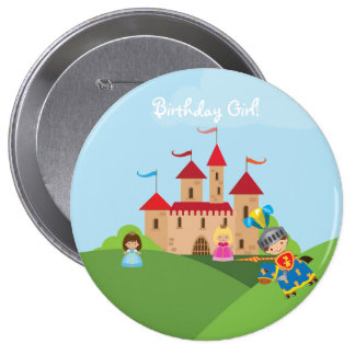 Fairytale Knight Personalized Birthday Button
