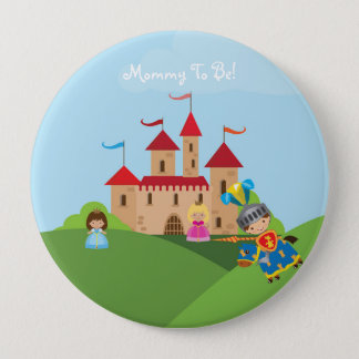 Fairytale Knight Personalized Mommy to Be Button