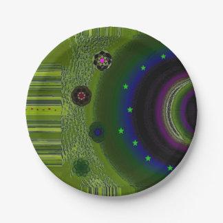 """Fairytale Land"" 7"" Appetizer/Dessert Plate 7 Inch Paper Plate"