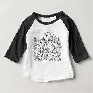 Fairytale Little Red Riding Hood Coloring Scene Baby T-Shirt