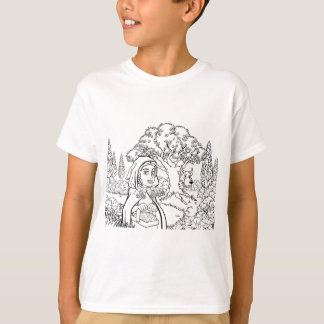 Fairytale Little Red Riding Hood Coloring Scene T-Shirt
