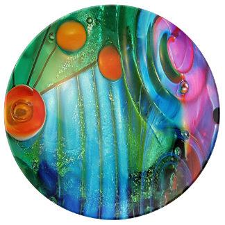 Fairytale, magic Design, photography, colorful Porcelain Plate