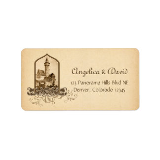 Fairytale Medieval Castle Wedding Return Address
