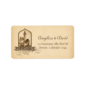 Fairytale Medieval Castle Wedding Return Address Label