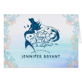 Fairytale Mermaid Under the Sea Thank You Card