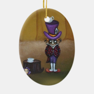 Fairytale Ornament Alice and The Mad Hatter
