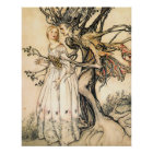 Fairytale Princess and Tree Elf Poster