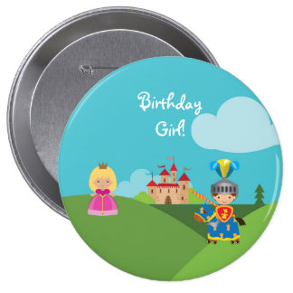 Fairytale Princess Personalized Birthday Button