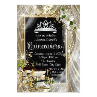 """Fairytale Princess Quinceañera 5"""" X 7"""" Invitation Card"""