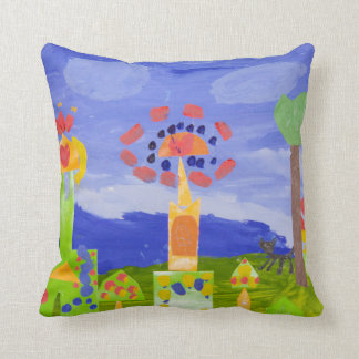 FAIRYTALE TOWN POSTER THROW PILLOW