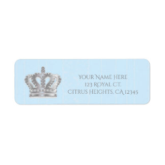 Fairytale Vintage Blue Royal Prince Address Label
