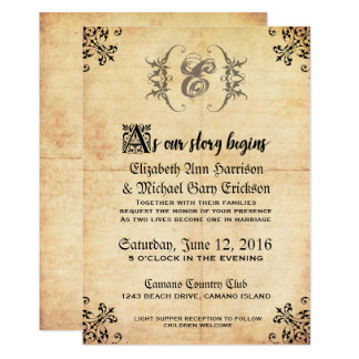 Fairytale Vintage Wedding Invitation