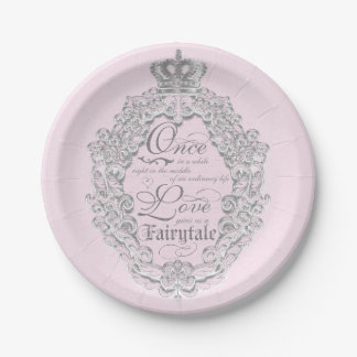 Fairytale Vintage Wedding Princess Crown Plates