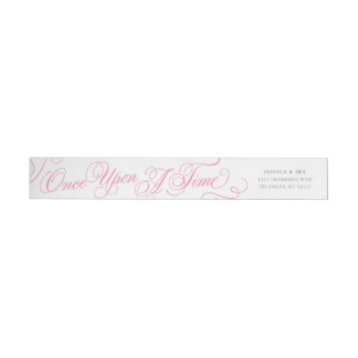 Fairytale Wedding Address Labels in Pink & Gray