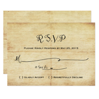 Fairytale Wedding RSVP Card - Once Upon A Time
