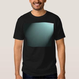 Faisceau lumineux sur le bleu de turquoise profond tee shirts