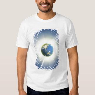 Faisceaux lumineux de la terre 2 tee shirt