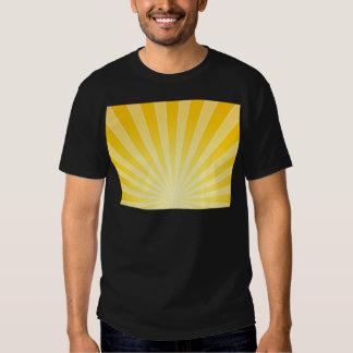 Faisceaux lumineux lumineux jaunes t shirt