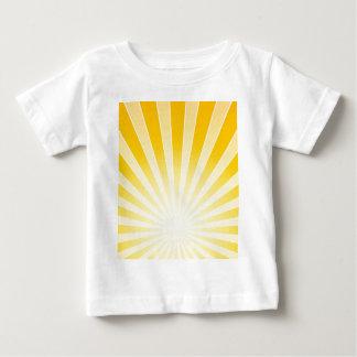 Faisceaux lumineux lumineux jaunes t-shirt pour bébé