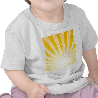 Faisceaux lumineux lumineux jaunes t-shirt