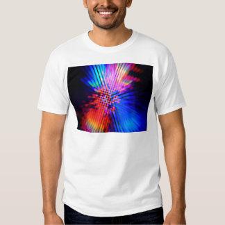faisceaux lumineux tee shirt