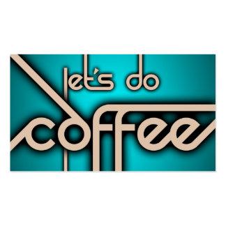 faisons le café (la carte perforée) cartes de visite personnelles
