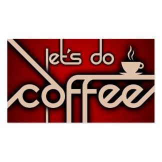faisons le café (la fidélité de client) modèle de carte de visite