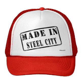 Fait dans la ville en acier casquette trucker