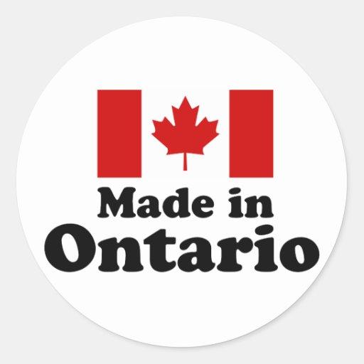 Fait dans Ontario Adhésif Rond